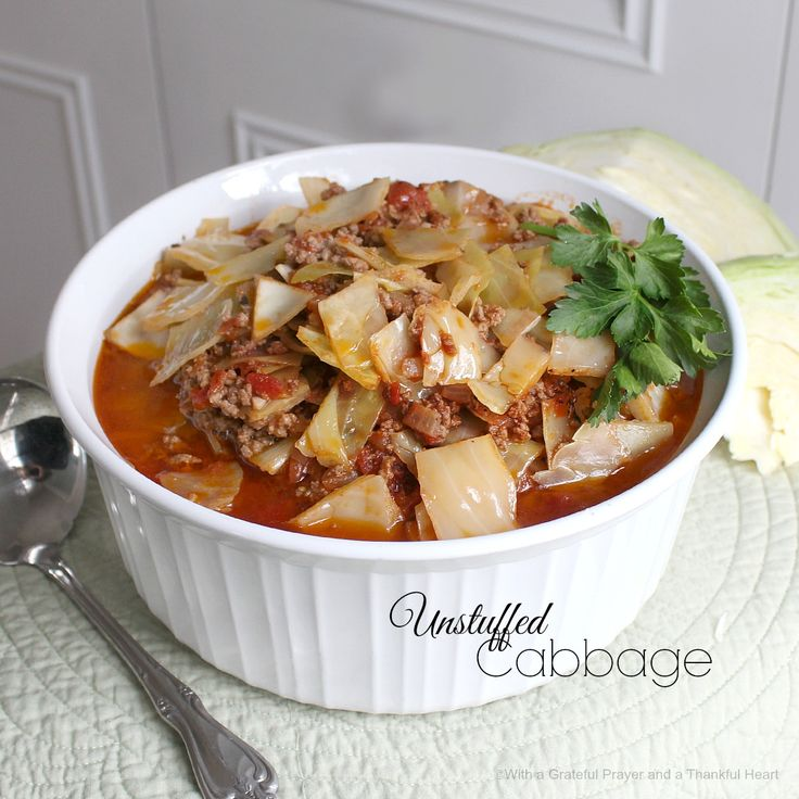 With a Grateful Prayer and a Thankful Heart: Unstuffed Cabbage