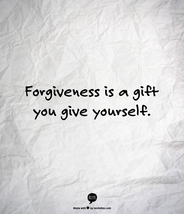 Remind myself everyday to practice forgiveness - one of the resolutions I will make for the rest of my life