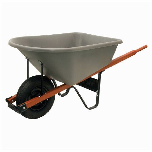Wheelbarrows - Pin it :-) Follow us :-)) zGardensupply.com is your Garden Supply Gallery ;) CLICK IMAGE TWICE for Pricing and Info :) SEE A LARGER SELECTION of wheelbarrows at http://zgardensupply.com/category/garden-supply-categories/outdoor-carts-bins/wheelbarrows/ - garden, gardening, gardening gear, garden tools, gift ideas, housewarming party gift ideas  -  Ames Jackson 6cf Heavy Duty Wheelbarrow W/ Poly Tray « zGardenSupply