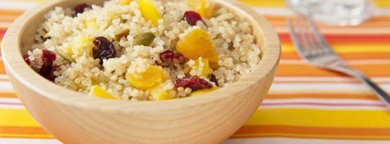 Fruit & Nut Quinoa Salad Recipe - chalk full of Omega 3s!