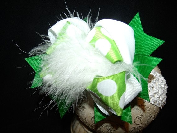 Over The Top Boutique HairbowSt Patricks by sassylilprincesses, $7.99Hairbowst Patricks, Tops Boutiques, Boutiques Hairbowst