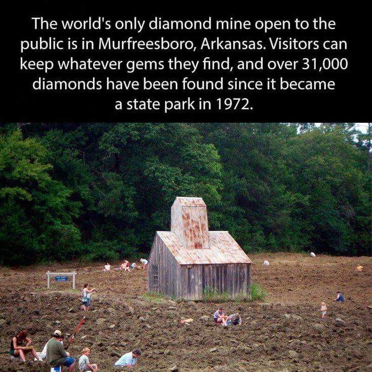 Visit the diamond mine in Murfreesboro, Arkansas