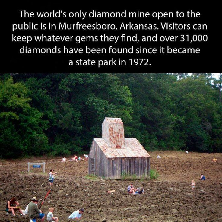 Visit the diamond mine in Murfreesboro, Arkansas