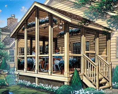 screened in porch ideas   Screened In Porch Plans To Build Or Modify