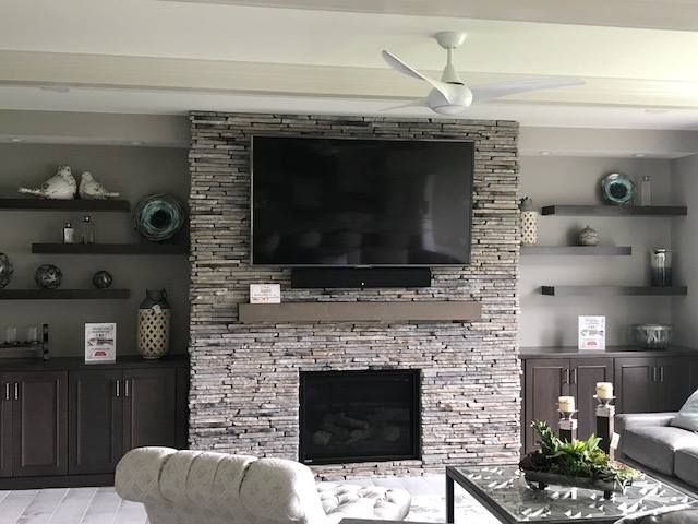 Stone Fireplace With Weckesser Brick Co Rochester Ny Fireplace