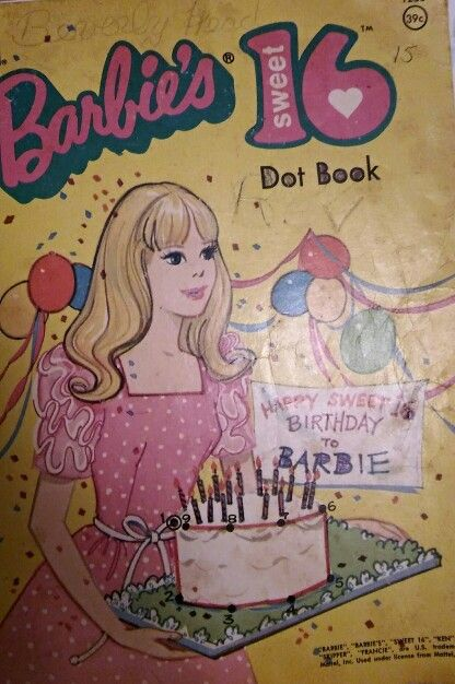 Barbie Sweet 16 Dot Book One Of Many My Favorite Vintage Coloring Books