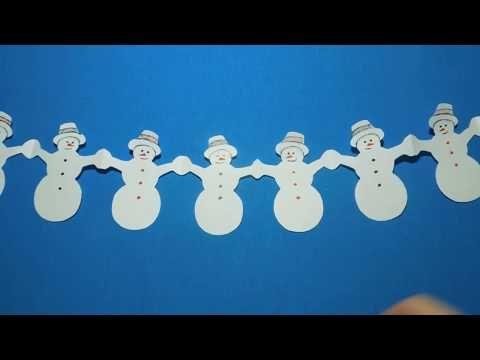 World Come fare una ghirlanda di carta. Pupazzi di neve ...