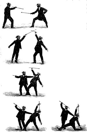 "vilawolf: ""Self-defence with a Walking-stick: The Different Methods of Defending Oneself with a Walking-Stick or Umbrella when Attacked under Unequal Conditions (PartI) By E.W. Barton-Wright [EN1]..."