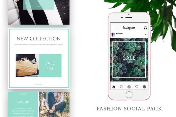 Instagram / Fashion Social Pack by Blossom on @creativemarket