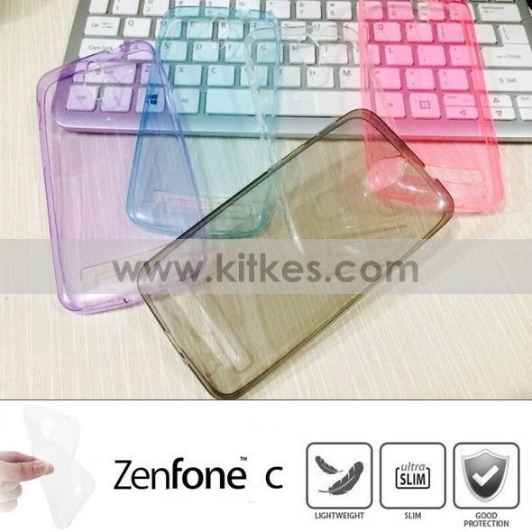 Colour TPU Slim 0.3mm Soft Case ASUS Zenfone C - Rp 65.000 - kitkes.com