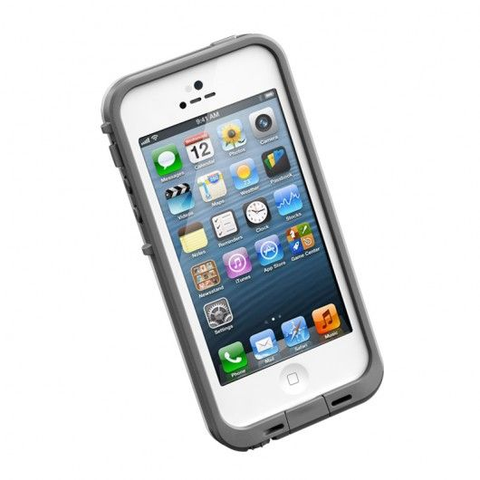 "LifeProof frē iPhone 5 Case for only $59.99 with code ""JUSTFRE"" in white.  This case is waterproof, damage proof, etc..."