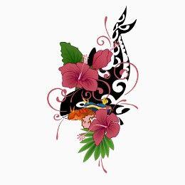 Tatuaggio di Orca e fiori, Coverup drago tattoo - TattooTribes.com