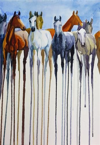 "Daily Paintworks - ""herd_2"" - Original Fine Art for Sale - © Beata Musial-Tomaszewska"