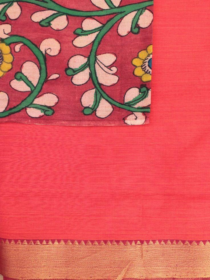 Hand Woven Mangalagiri Saree