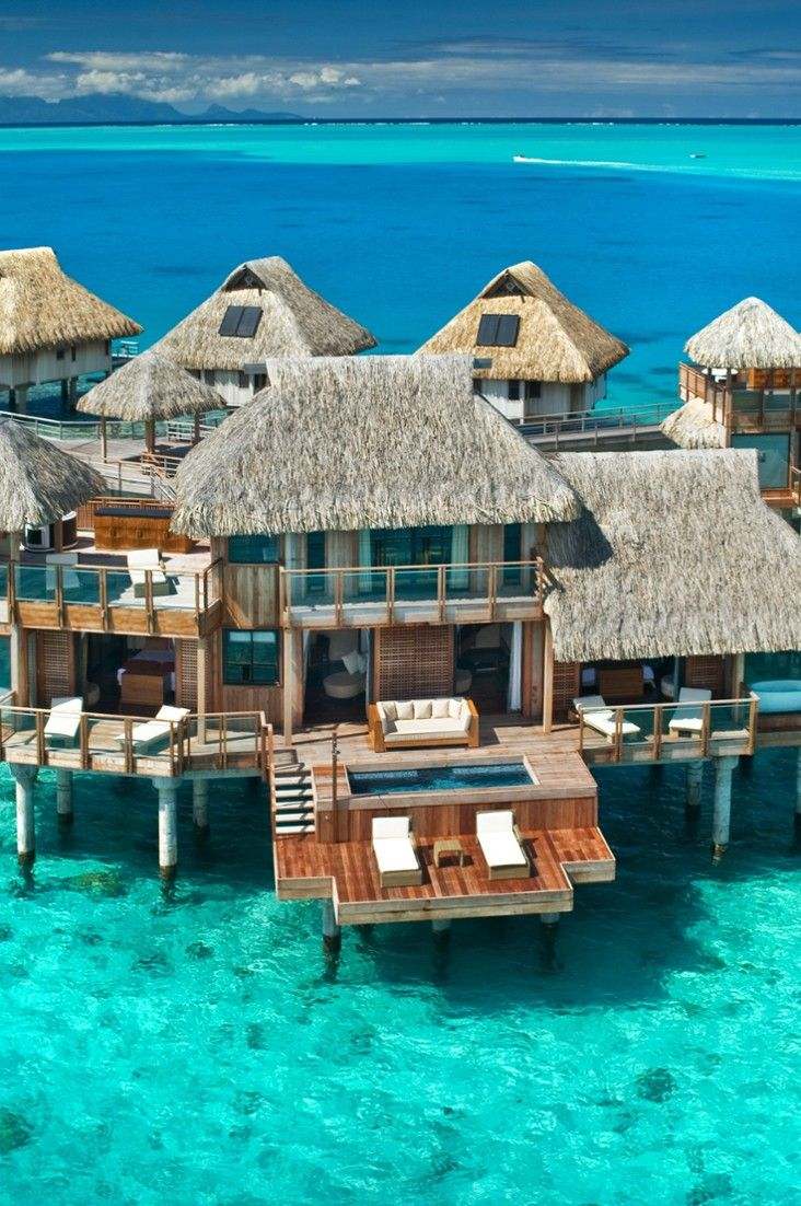 Who can resist the allure of an overwater bungalow? Everything about it spells romantic, off-the-grid seclusion, from the thatched roofs and wraparound terraces to outdoor showers and spellbinding views of the azure waters. We traveled to Tahiti, Fiji, Bora Bora and beyond in search of the best, most luxurious ones. Here's what we found:#Jetsetter