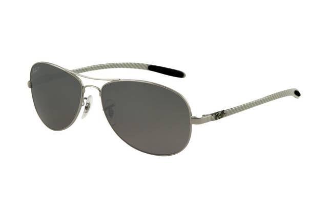 Ray Ban Tech RB8301 Sunglasses Gunmetal Frame Grey Mirror Polar