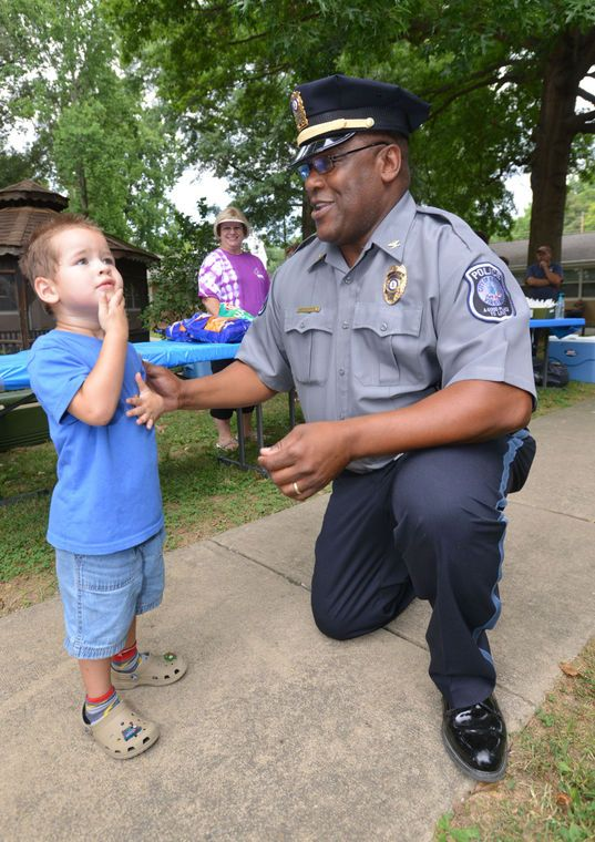 Music blared through the neighborhood and the aroma of cookout food permeated the air along Clinton Avenue in Bristol, Virginia, Tuesday evening for National Night Out.