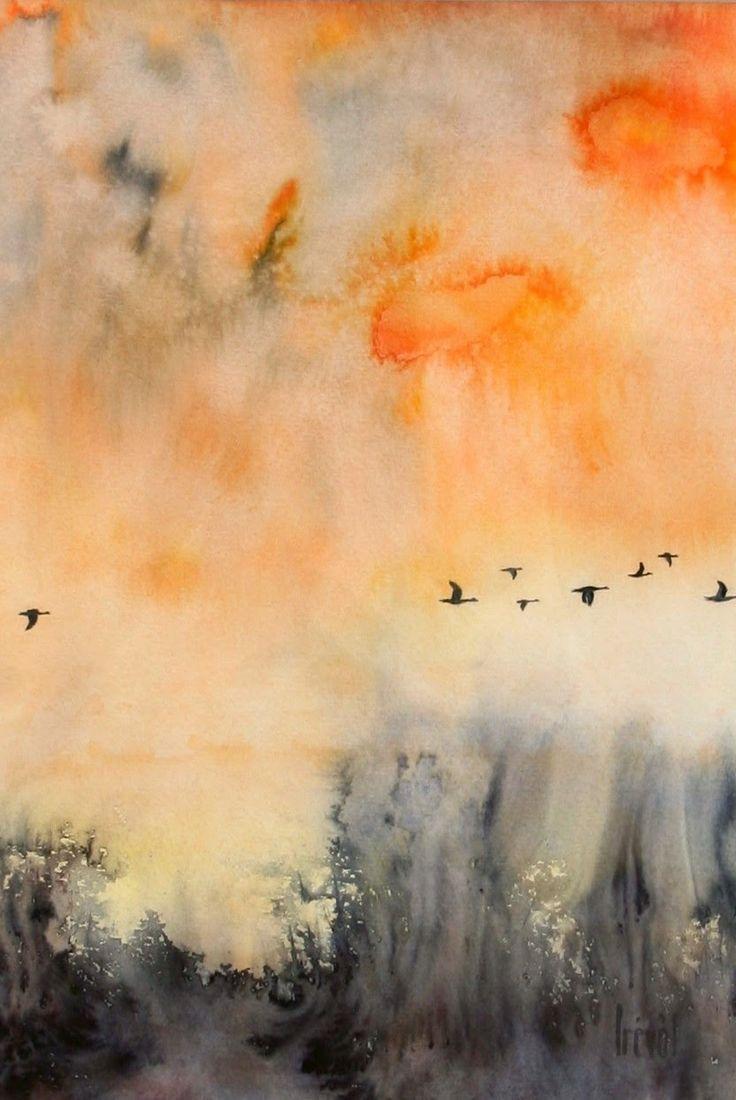 pinterest aquarelle abstrait | Georges Prevôt aquarelliste
