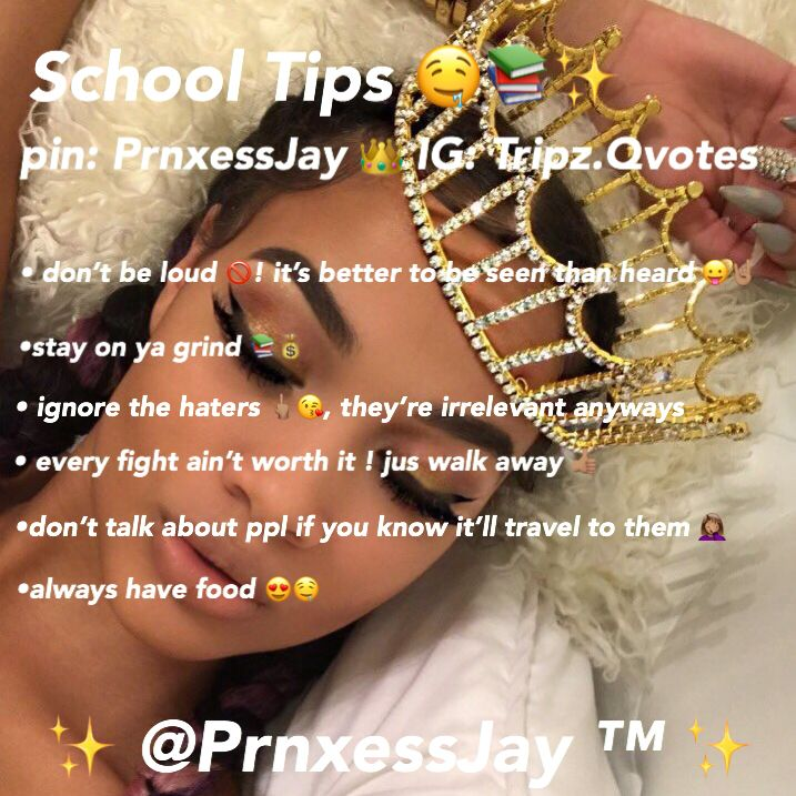 Hoe Tips || Back To School Tips Follow @PrnxessJay for more