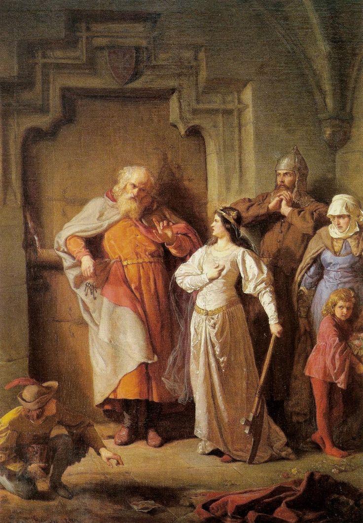Queen Jadwiga of Poland and Dymitr of Goraj - Wojciech Gerson