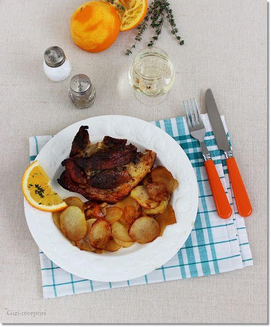 Gizi-receptjei.  Várok mindenkit.: Narancsmázas-fűszeres csülök krumplival.