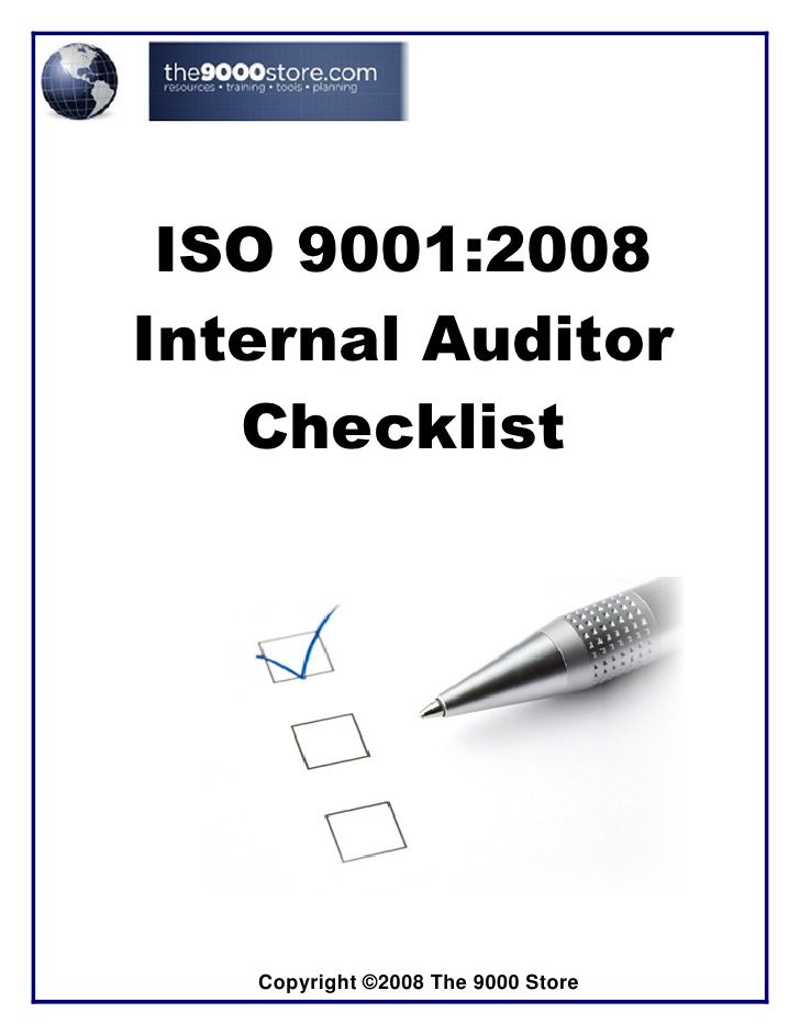 Iso 9001-internal-audit-checklist by philip_teoph via slideshare