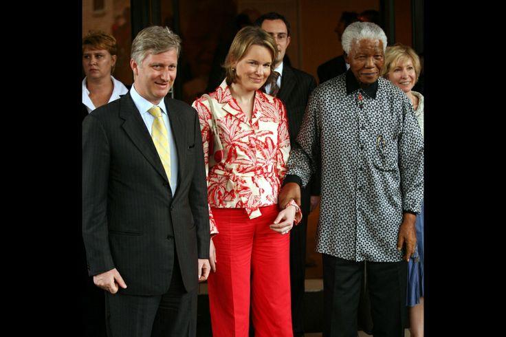 Avec le prince Philippe de Belgique et Mathilde à Johannesburg en 2006
