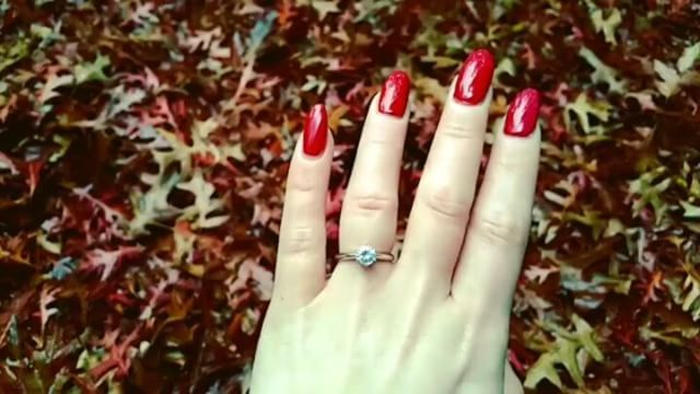 Goodbye Autumn. Hello Winter! Oh and hello to the 1 carat solitaire, you are a pretty picture!!