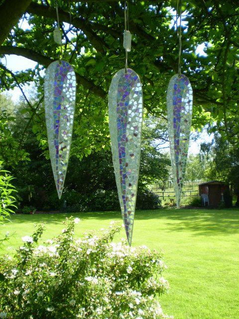 Arte en mi jardín-Hermosos mosaicos colgantes