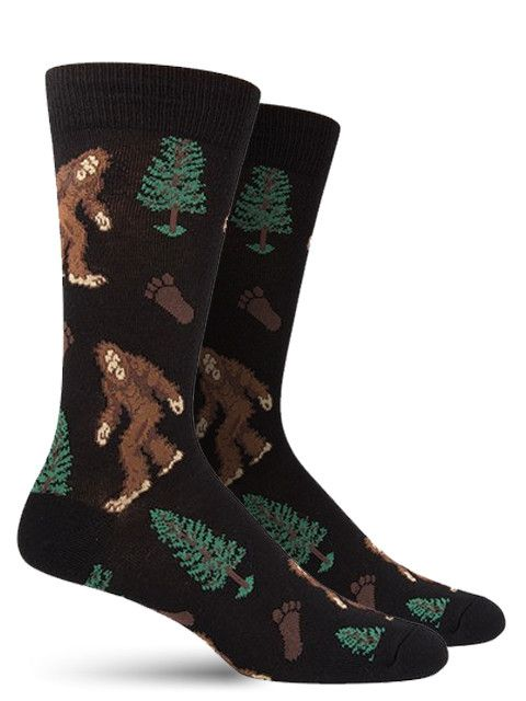 Bigfoot, Sasquatch, the Hairy Man.. whatever you call him, don't call him something that will provoke him. In either black or paprika options, adorn your big feet with the sizable foot prints and like