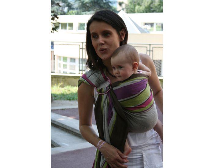 neobulle bulline echarpe porte bebe avec anneau julie de presentation