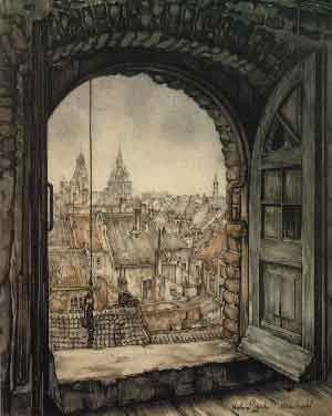 Anton Pieck (1895-1987), Dutch painter and graphic artist. His work contains paintings in oil and watercolour, etchings, woodcarvings, engravings, lithographs, drawings and illustrations.