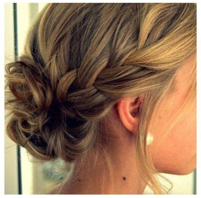 Updo hairstyle- bridesmaid cute