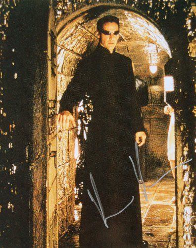 2003 - Keanu Reeves Autographed 8x10 Color Photo - Signed in silver - Obtained In Person - From The  @ niftywarehouse.com #NiftyWarehouse #Dracula #Vampires #ClassicHorrorMovies #Horror #Movies #Halloween #Vampire