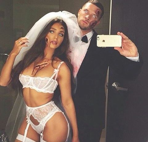 Halloween, couple, and sexy image