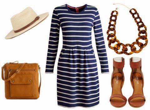 striped dress, tortoise shell necklace, panama hat // the daily dani: Perfect & Preppy: Joules USA