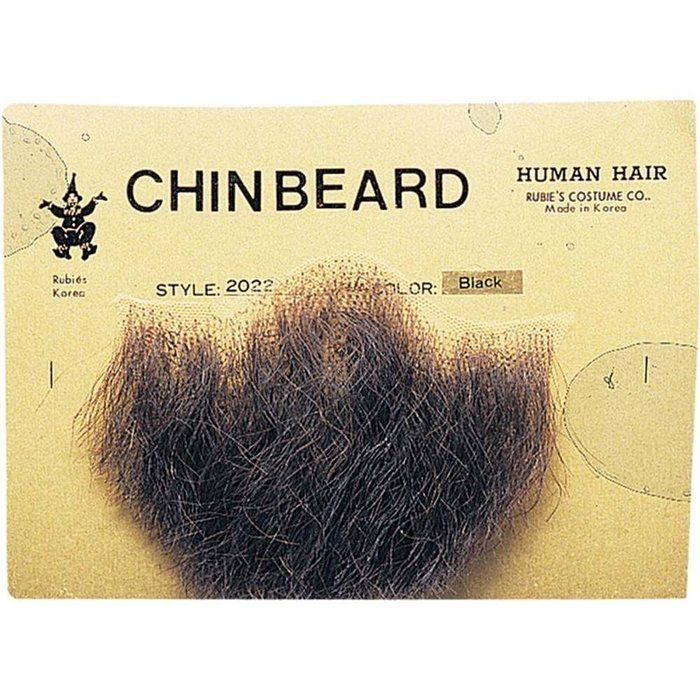 Gentlemans Black Human Hair Goatee Chin Beard