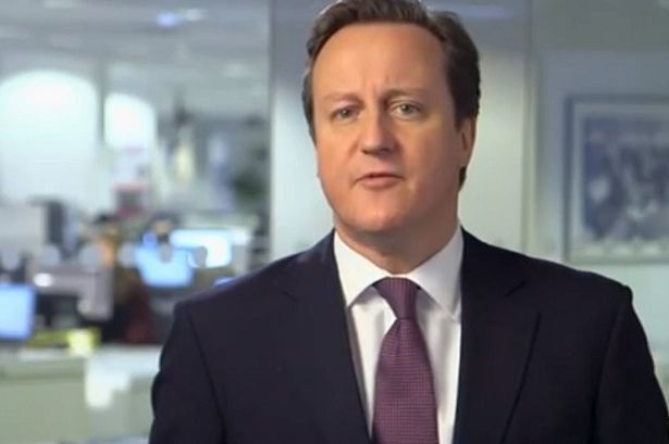 David Cameron in party political broadcast: The rich get richer: David Cameron's tax cut will help 13,000 millionaires