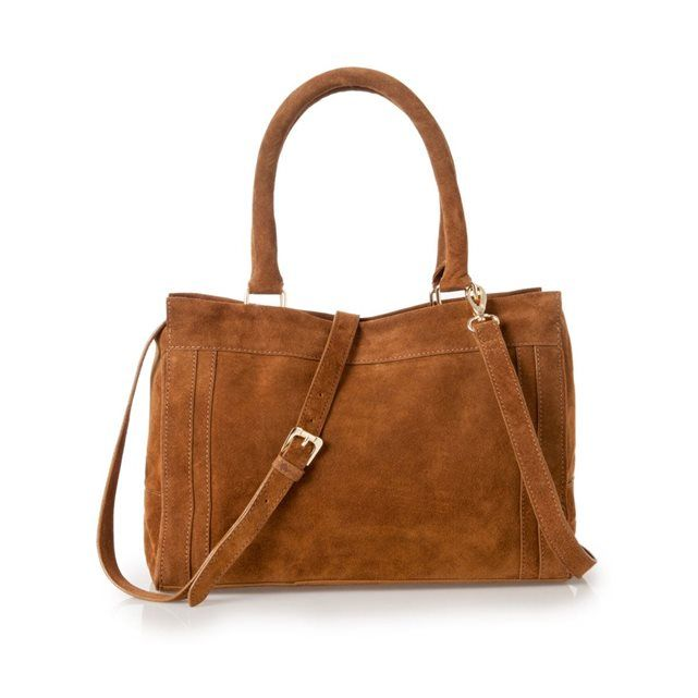VIDA Foldaway Tote - brownish diagonal lines by VIDA