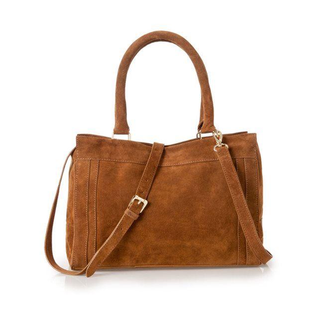 Matière : croûte de cuir vachette2 poches zippées devant.Bandoulière ajustable et amovible.1 poche zippée à l'intérieurDimensions 23,5 x 32,5 x 13 cm