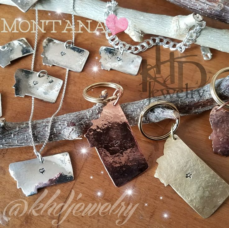 Montana Fans!! Get your state love necklace from Silversmith Kim Hunter @khdjewelry #montana #jewelry #khdesigns #mountainlife