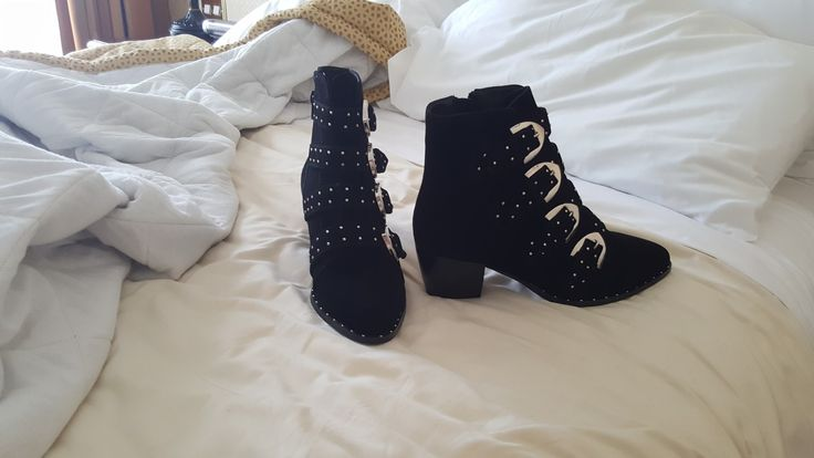 Sexy ankle boots  Totally goth look .