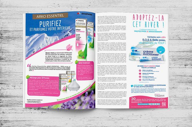 Agence Wouaille ! | Annonce Presse / Encart Publicitaire | Conception Annonce Presse / Encart Publicitaire | Arkopharma
