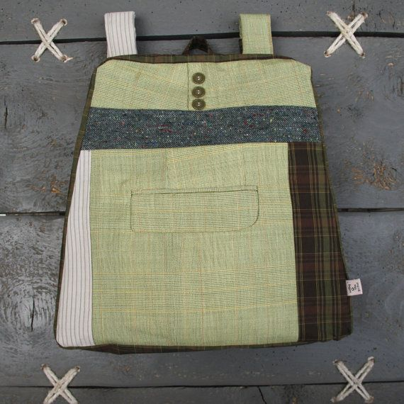 "Stylish upcycled backpack from ""Eating The Goober"""