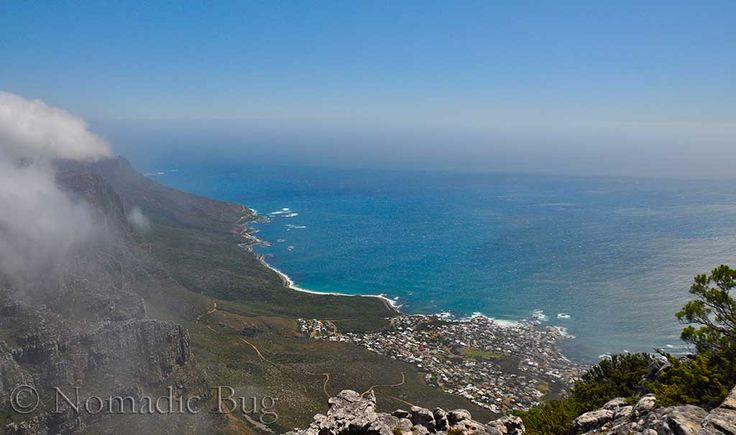 View from the top of Table Mountain, Table Mountain, Cape Town, South Africa  Landmarks Nomadic Existence