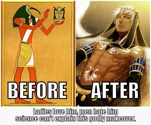 The Blog Of Anime and Manga >>>>>> Thoth the Egyptian god of wisdom. As an Egyptology student I approve of this makeover xxx