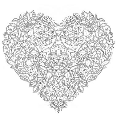 Free Valentine's day Johanna Basford colouring book page / Ingyenesen letölthető Johanna Basford Valentin-napi felnőtt színező oldal /  Mindy