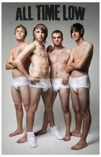 This poster is 'So Wrong, It's Right'! A great shot of Pop Punk-ers All Time Low in their underwear and unashamed! Ships fast. 11x17 inches. Need Poster Mounts..?