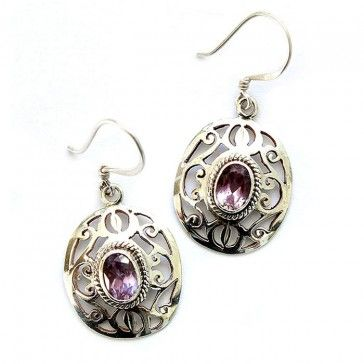 Amethyst Earrings 5 - Earrings - Silver Jewellery - Jewellery