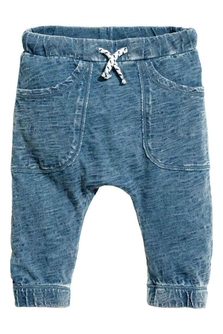 Tricot broek - Blauw washed out - | H&M NL 1